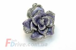 Фиолетовая флешка-роза