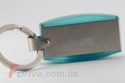 Бирюзовая флешка с металлической вставкой