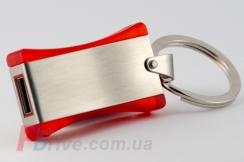 Красная флешка с металлической вставкой