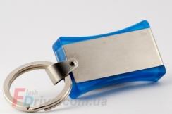 голубая флешка с металлической вставкой