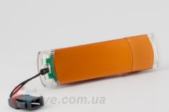Оранжевая флешка под нанесение логотипа