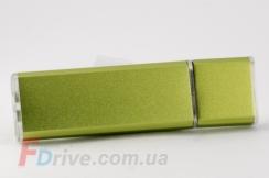 Зеленая металлизированная флешка