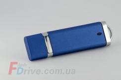 Матовая синяя флешка