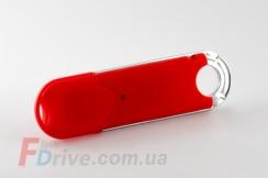 Красная прорезиненная флешка